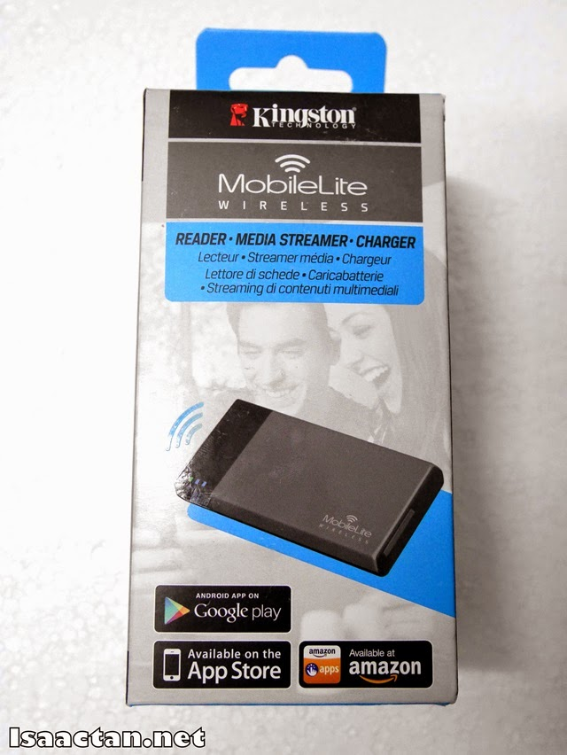 The simple packaging of Kingston's Mobilite Wireless