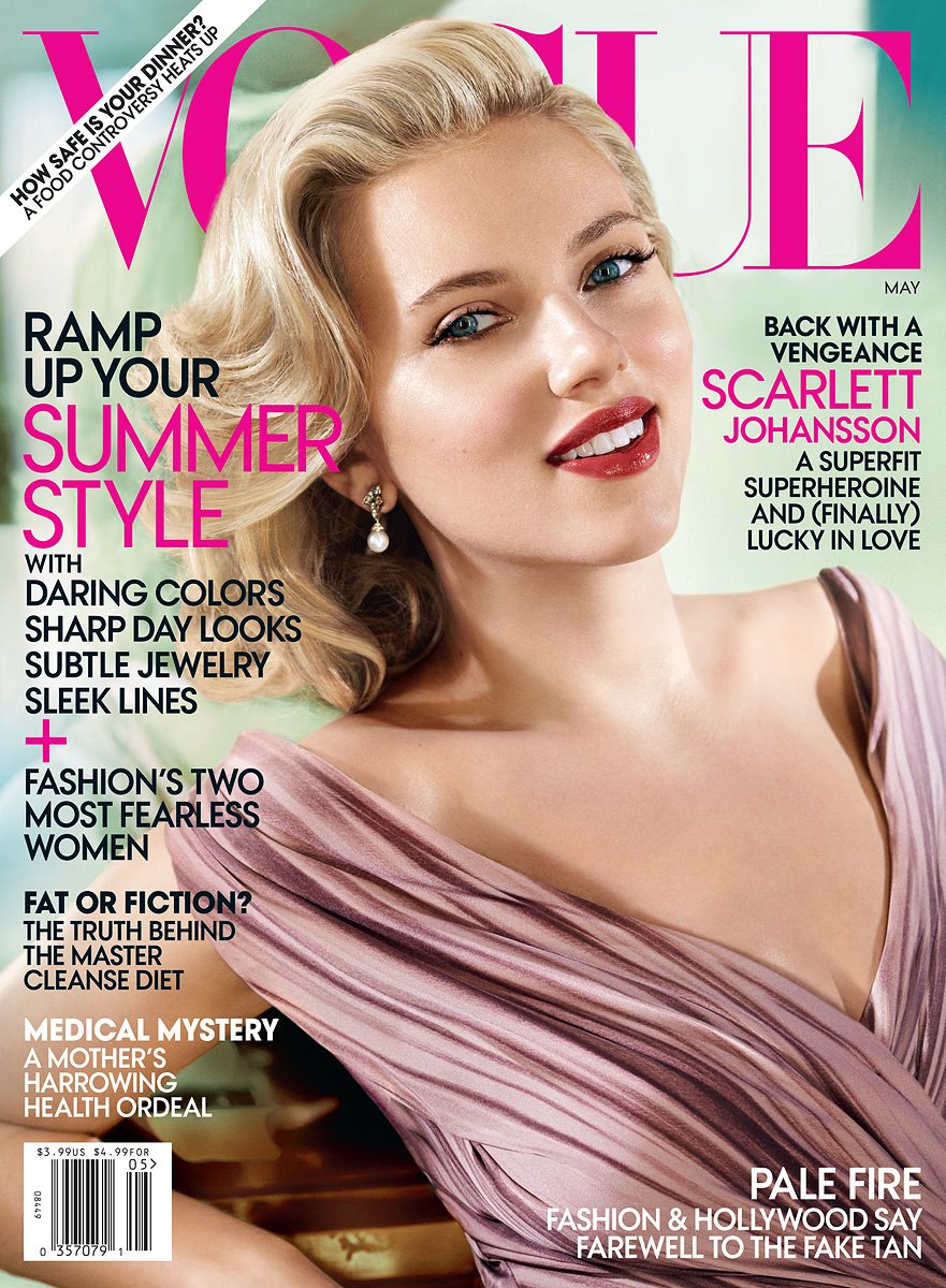 vogue scarlett magazine johansson covers issue scarlet star models american johanson modeling zoo april turtzonthego shoot international happy latest