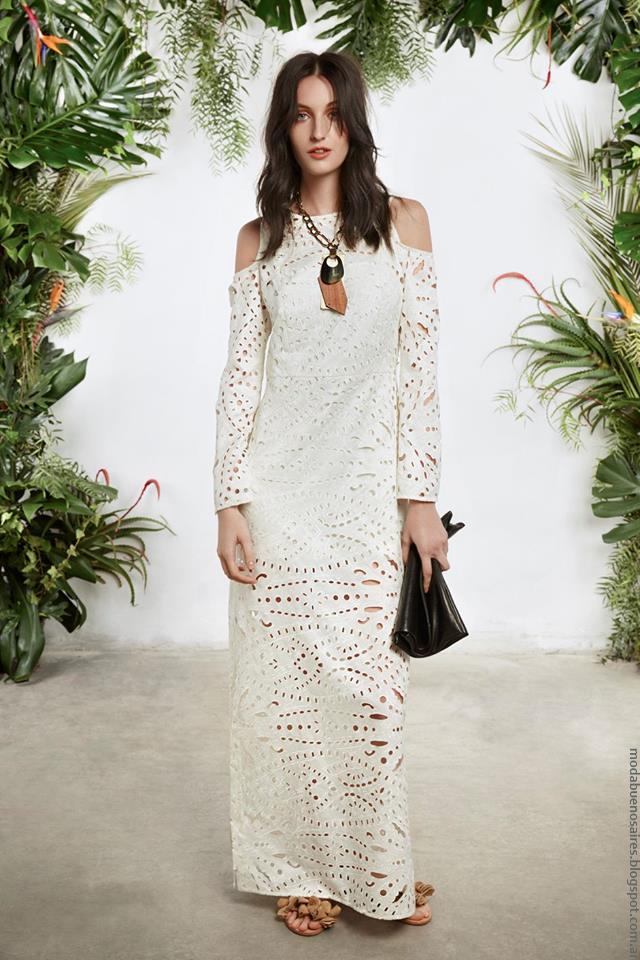 Vestidos largos moda mujer primavera verano 2017 María Cher.