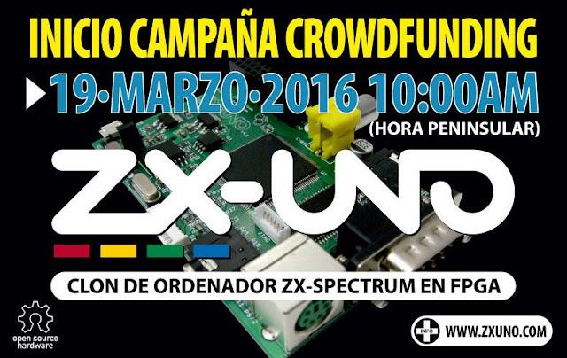 La campaña de crowdfunding del ZX-UNO ya tiene fecha