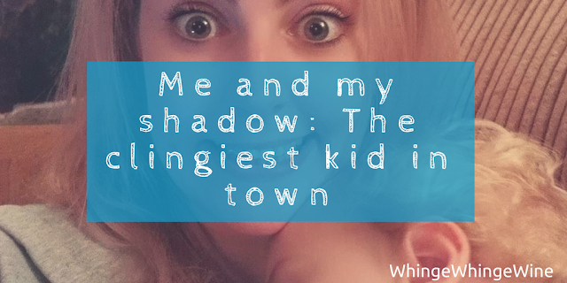 Me and my shadow: The clingiest toddler in town