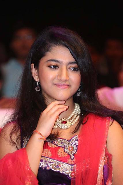 Shriya Sharma in Lovely Sleevless Anarkali Dress Choli at Movie Audio Launch