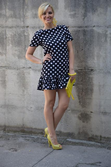 outfit abito a pois come abbinare un abito a pois outfit estivi outfit settembre 2016 mariafelicia magno fashion blogger colorblock by felym fashion blogger italiane fashion blogger bergamo fashion blogger milano web influencer italiane