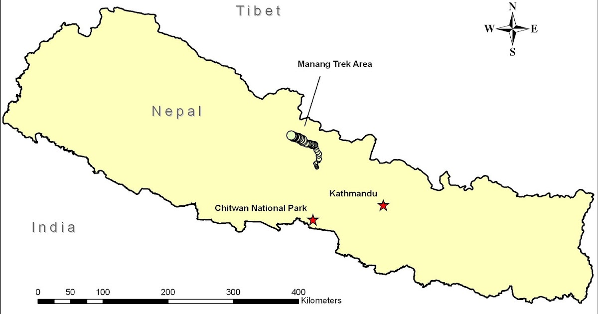 Nepal Map Outline