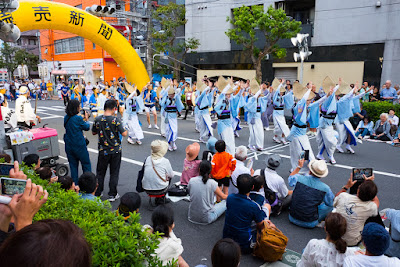 Dance party departing from the Minami Awa-Odori Venue of the Koenji Awa-Odori Festival, 2016.