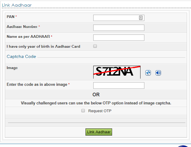 link pan card to aadhaar card