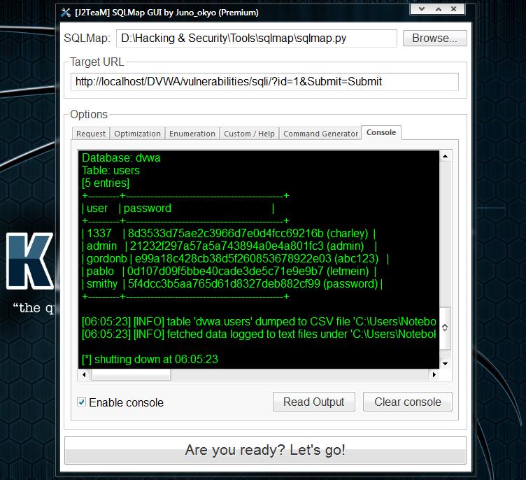 SQLMap GUI by Juno_okyo