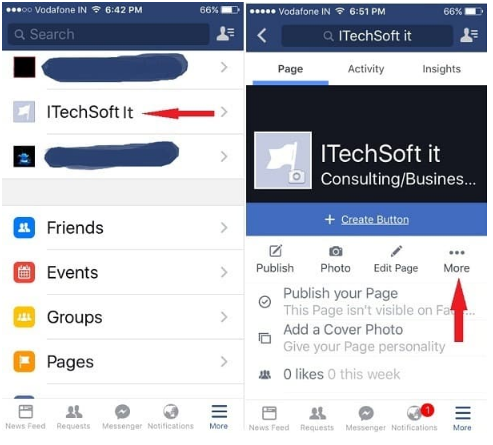 how to get an old facebook page deleted