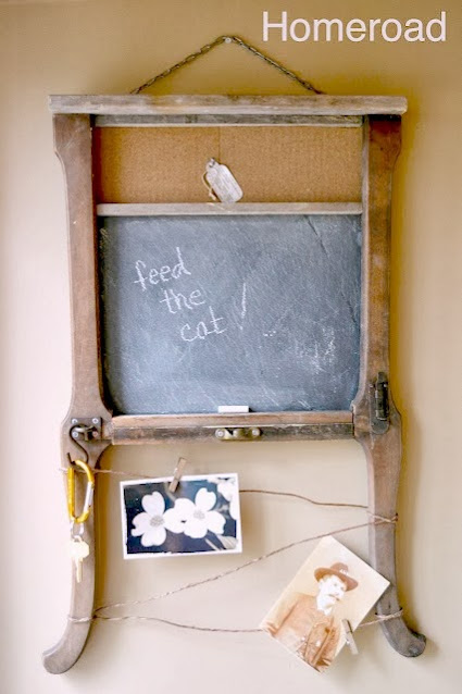 chair table leg chalkboard memo board