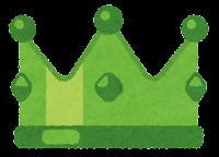 王冠のイラスト(緑)