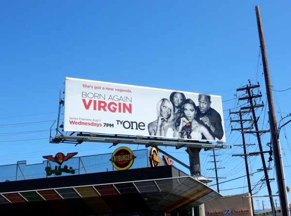 Born Again Virgin series launch billboard