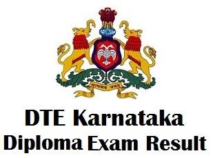 DTE Karnataka Polytechnic Result 2017