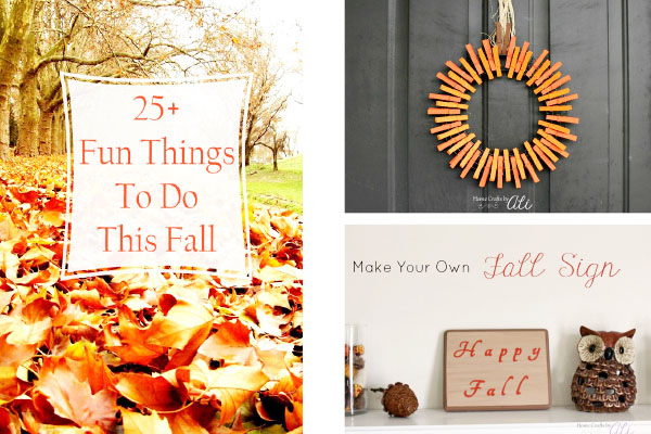 Plan fall activities and crafts with these posts on Home Crafts by Ali