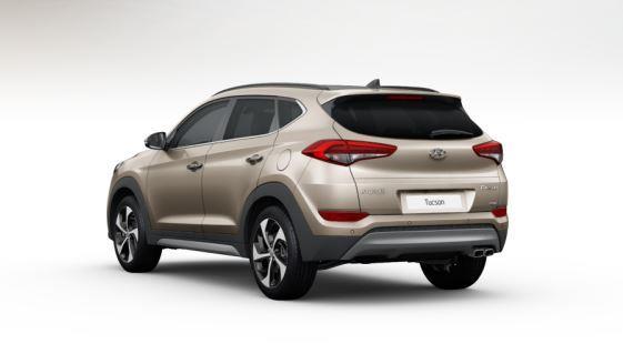 colori Nuova Hyundai Tucson 2016 Bianco Sabbia - White Sand dietro posteriore