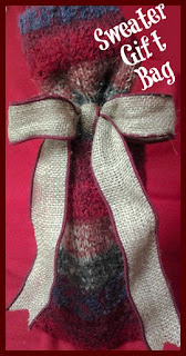 DIY Sweater Gift Bag at sewlicioushomedecor.com