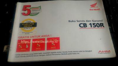 Buku service dan garansi CB150R