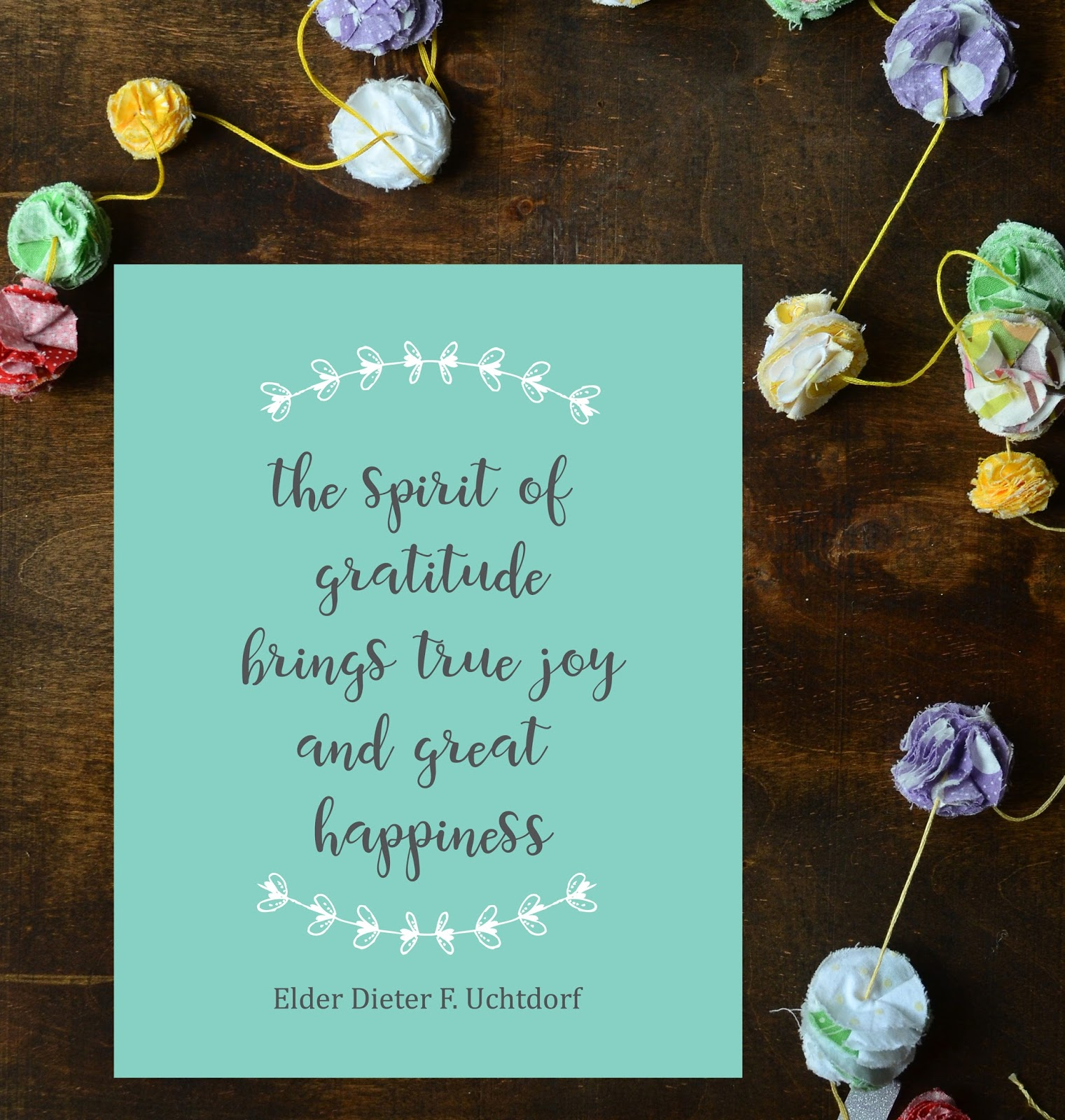 The spirit of Gratitude...Free printable!
