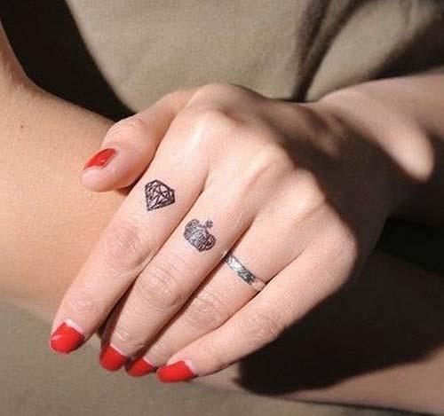 küçük elmas dövmeleri small diamond tattoos
