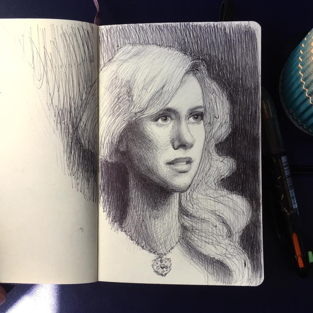 13-Sketching-during-the-flight-Arthur-Gains-Moleskine-Sketches-of-Celebrities-and-other-Portraits-www-designstack-co