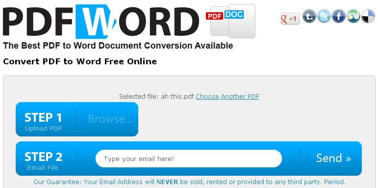 Convertpdftoword Org Free Pdf To Word Conversion Online Tool