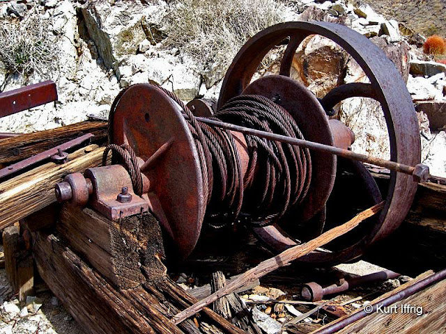 This winch would have been used to hoist ore out of Contact Mine's multiple shafts.