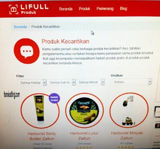 Cara dapat Hadiah Gratis Lifull Produk - 4