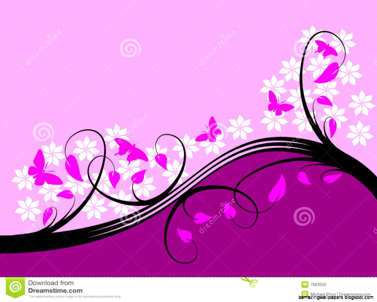Purple Flower Background Design Amazing Wallpapers