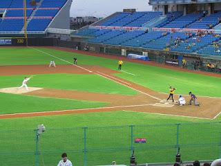 First pitch, Elephants vs. Monkeys