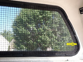 truck topper window screen