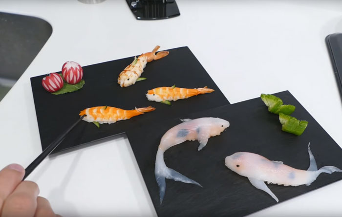 03-Rachel-and-Jun-JunsKitchen-Food-Art-Koi-Fish-Sushi-www-designstack-co