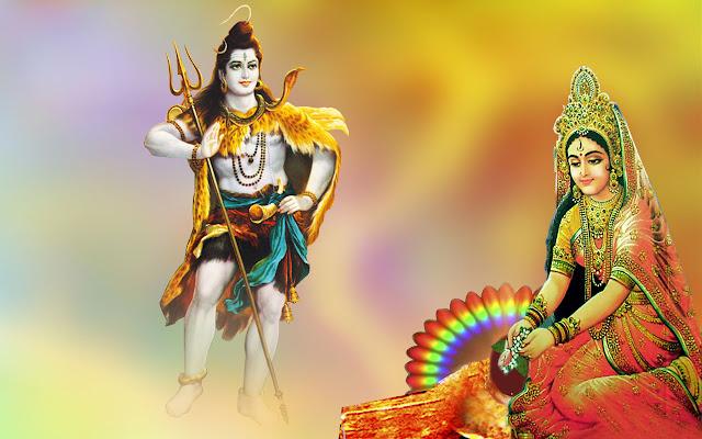 Lord Shiva & Parvathi  Wallpaper For Desktop