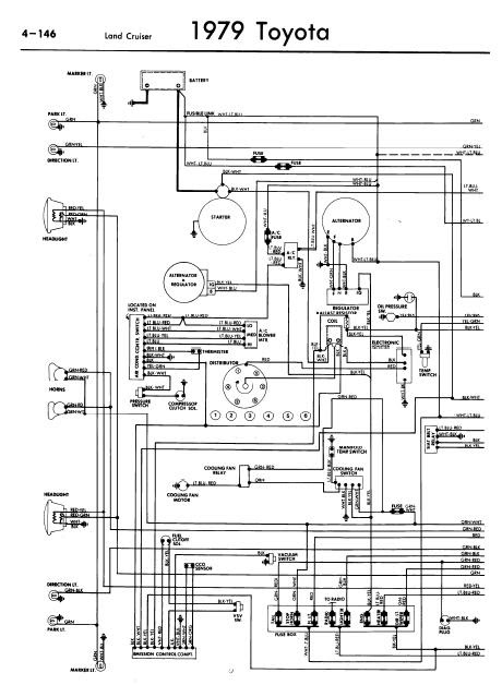 repairmanuals: Toyota Land Cruiser 1979 Wiring Diagrams