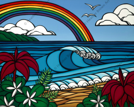 tropical hawaiian art