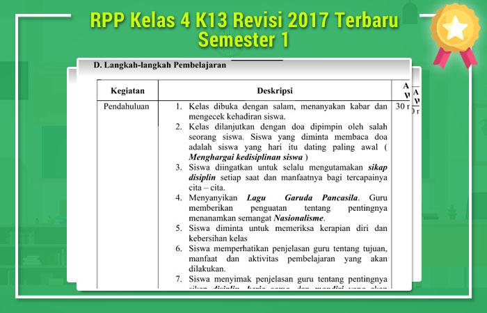 RPP Kelas 4 K13 Revisi 2017