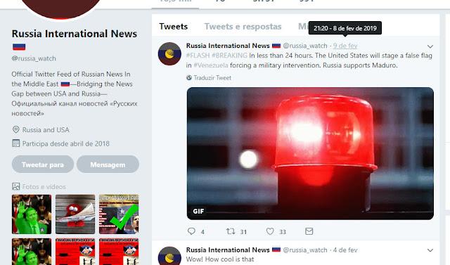 twitter - bola de fogo na venezuela