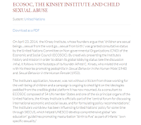 ECOSOC, THE KINSEY INSTITUTE AND CHILD SEXUAL ABUSE