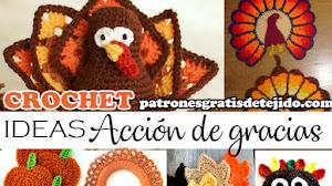 Ideas de Decoración y Regalos para Acción de Gracias / Patrones y Tutoriales Crochet