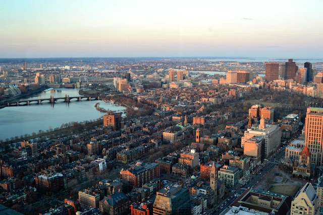 top of the hub prudential center boston eeuu a golpe de objetivo