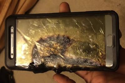 Galaxy Note 7 Meledak Sebabkan 26 Orang Luka bakar di Amerika