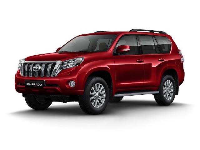 Toyota Land Prado 2016 có thêm màu đỏ ánh kim