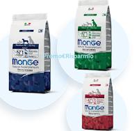 Logo Monge ''Zanna Bianca'' vinci 30 forniture per cani di varie taglie