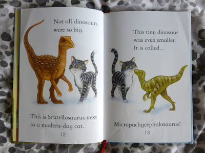 Inside pages of Usborne First Reading Dinosaur Book