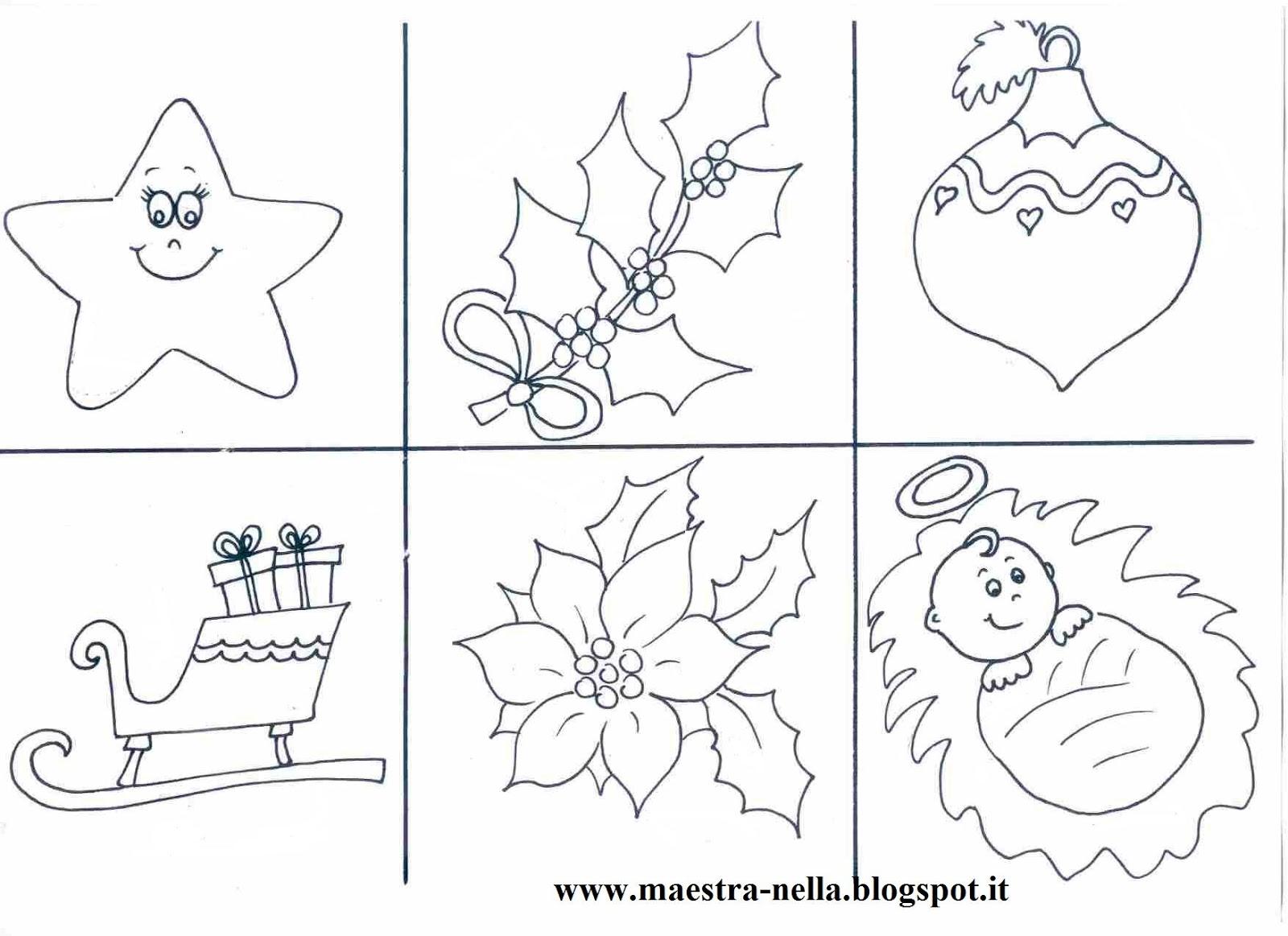 Scritte di natale da colorare for Lavoretti di natale maestra mary
