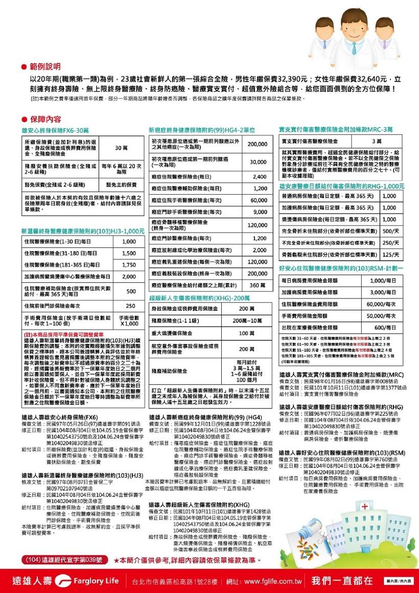 醫療險: 遠雄人壽【醫之獨秀】