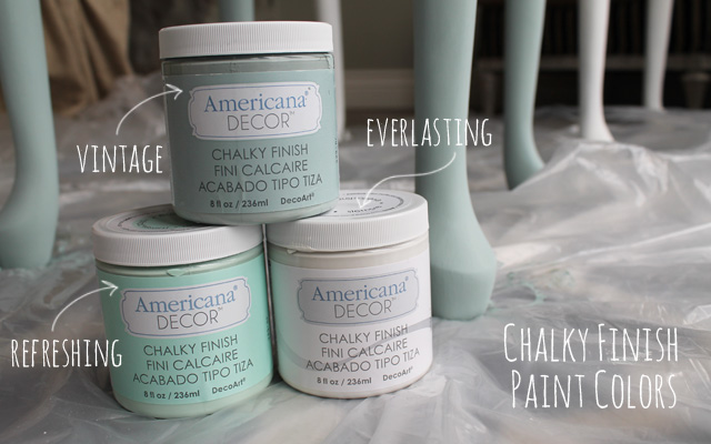 hobby lobby chalk paint Table Makeover with Chalky Finish Paint from Americana   My  hobby lobby chalk paint