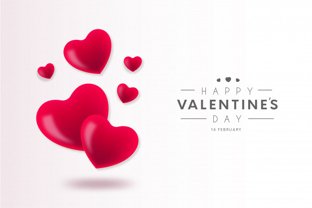 Lovely happy valentine's day background Free Vector