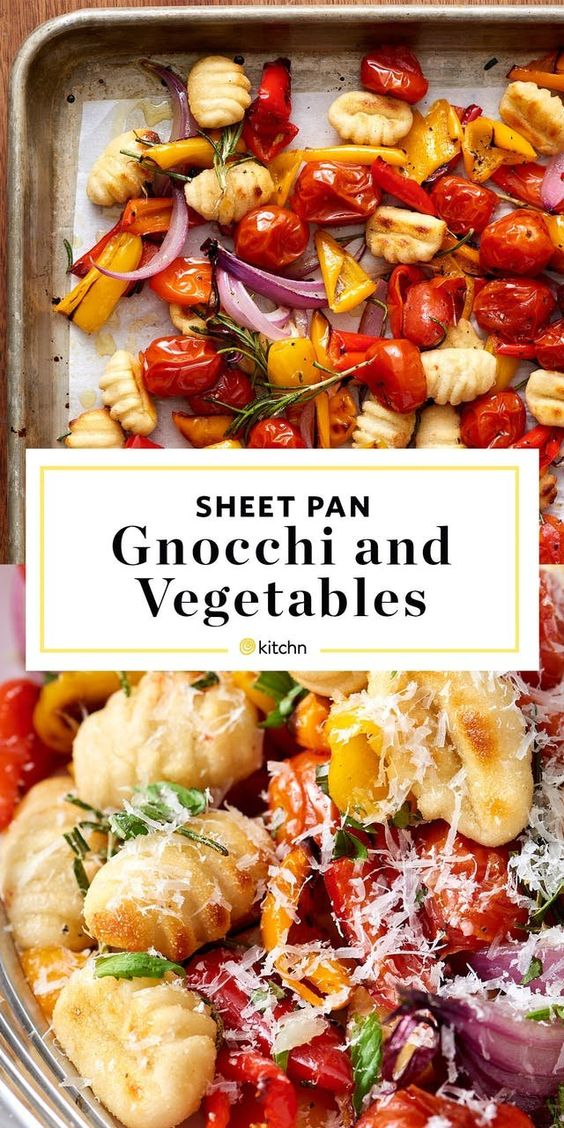 Crispy Sheet Pan Gnocchi And Veggies #crispy #sheet #pan #gnocchi #veggies #veganrecipes #vegetarian #vegetarianrecipes