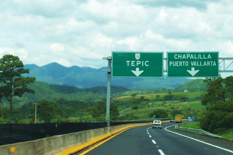 Guadalajara a Tepic por carretera kilometros y Cuota y precios