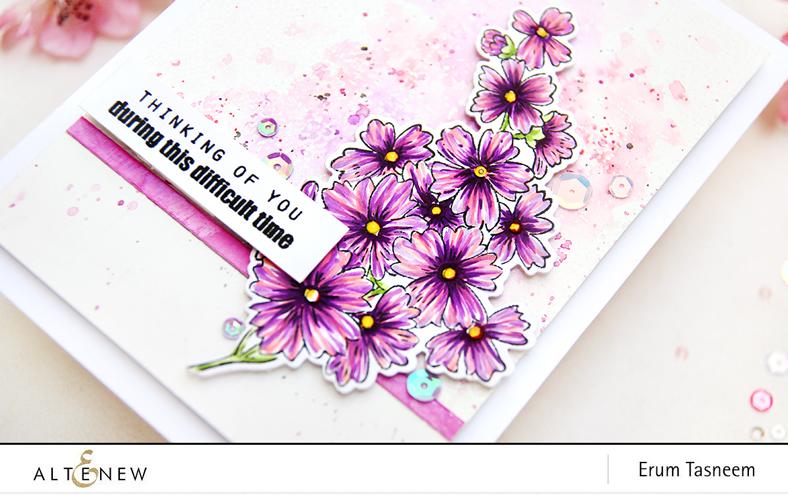 Altenew Starry Flowers and Rustic Linen | Erum Tasneem | @pr0digy0