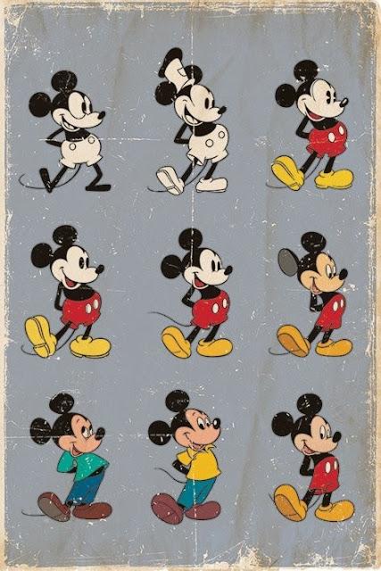 A evolução de Mickey Mouse